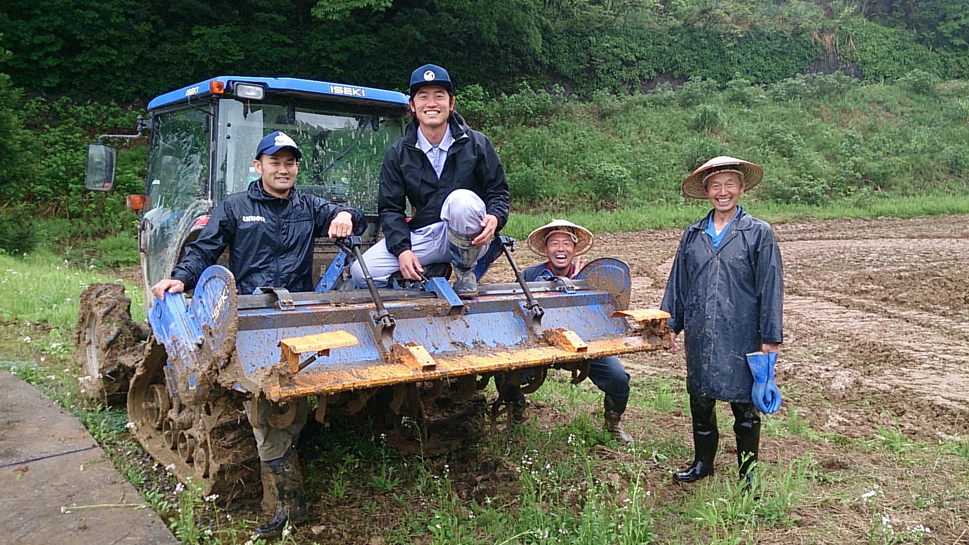 イナカレッジが運営するゼミナールの一つ。米づくりの技術を学ぶ「新米塾」。