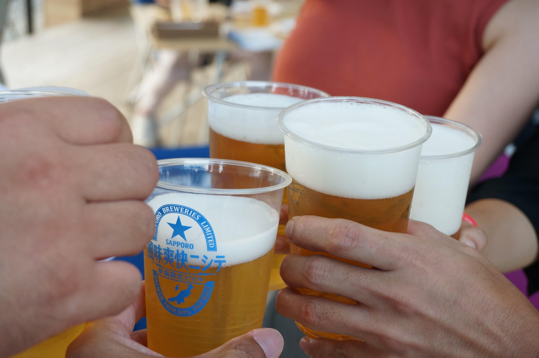 4-与板ビール園-乾杯