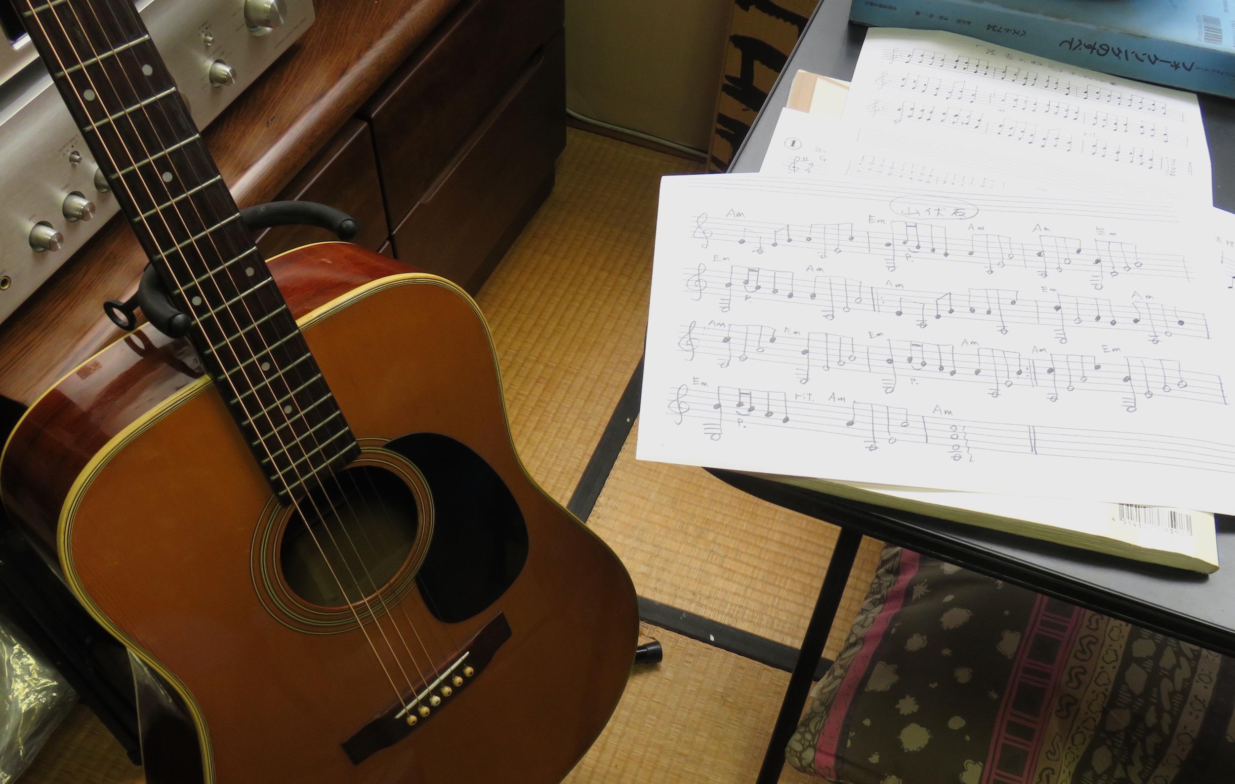 09ギターと譜面