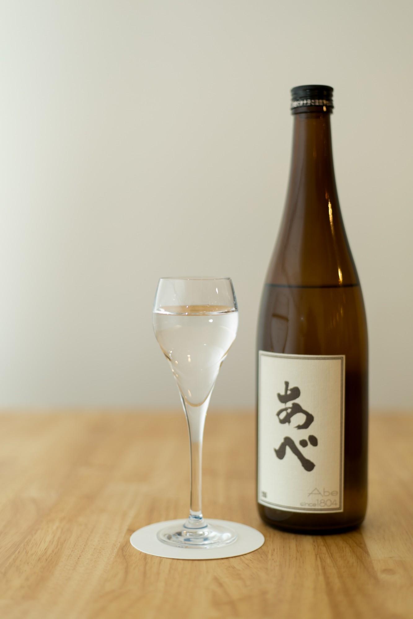この日本酒バルでは貴重な県内産。柏崎の阿部酒造が手がける「あべ」。新潟の酒=淡麗辛口の常識を打ち破る甘みに特徴あり。