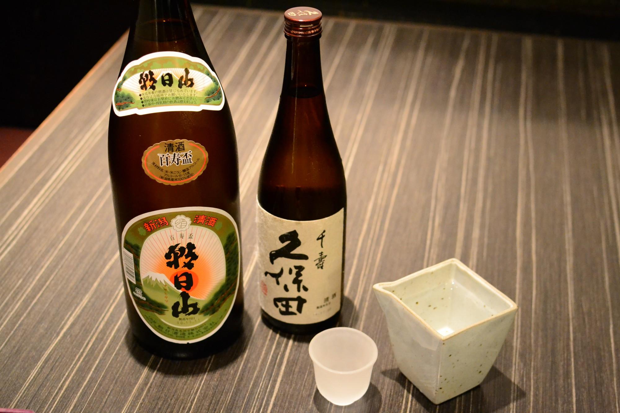 朝日山酒造でも定番の日本酒。