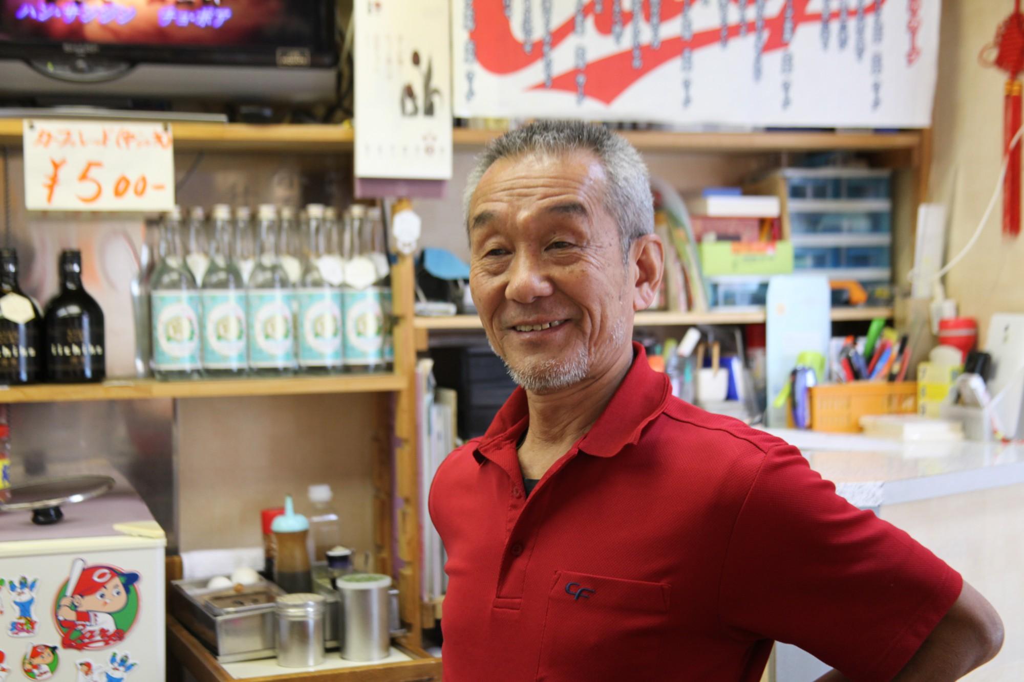 「お好み焼き 中しま」店主・中島康行さん