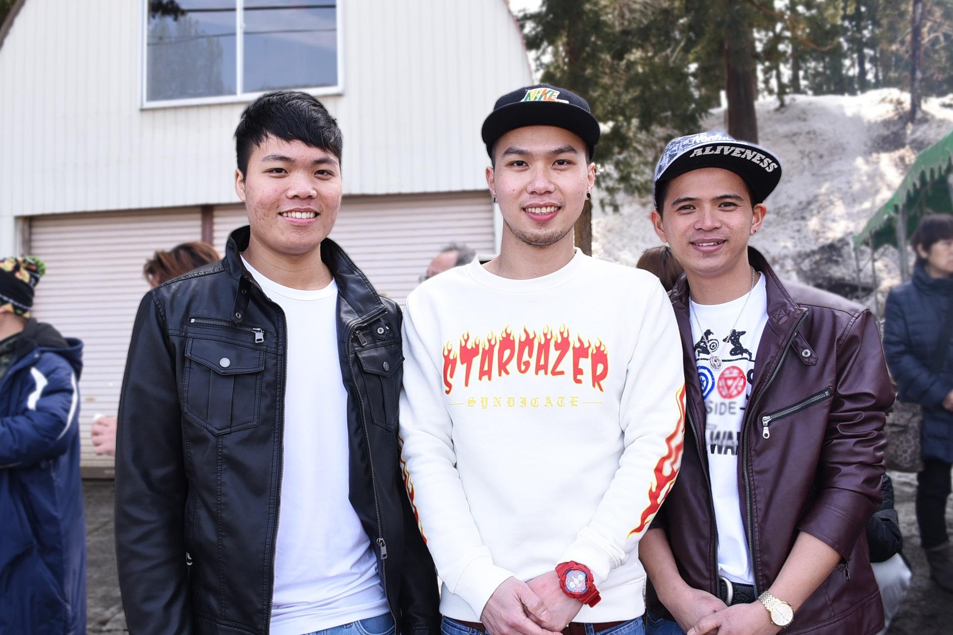 面倒見のよい近所の方に連れられて来たという、ベトナム出身男性3人組。