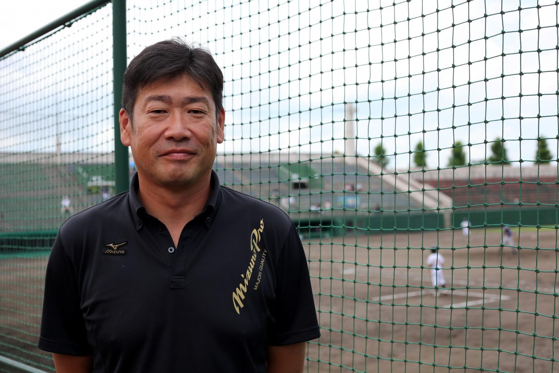 中越高校野球部OB鈴木裕二さん。第70回夏の甲子園大会に出場。